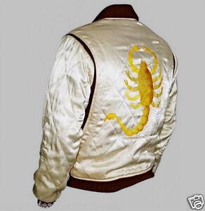 Slim Ryan Ivory Jacket Fit Ebay Scorpion Gosling Movie Drive Satin qTawpvtt