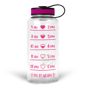 28565bc5f0 Image is loading Heart-Water-Bottle-Tracker-Vinyl-Sticker-Decal-219-