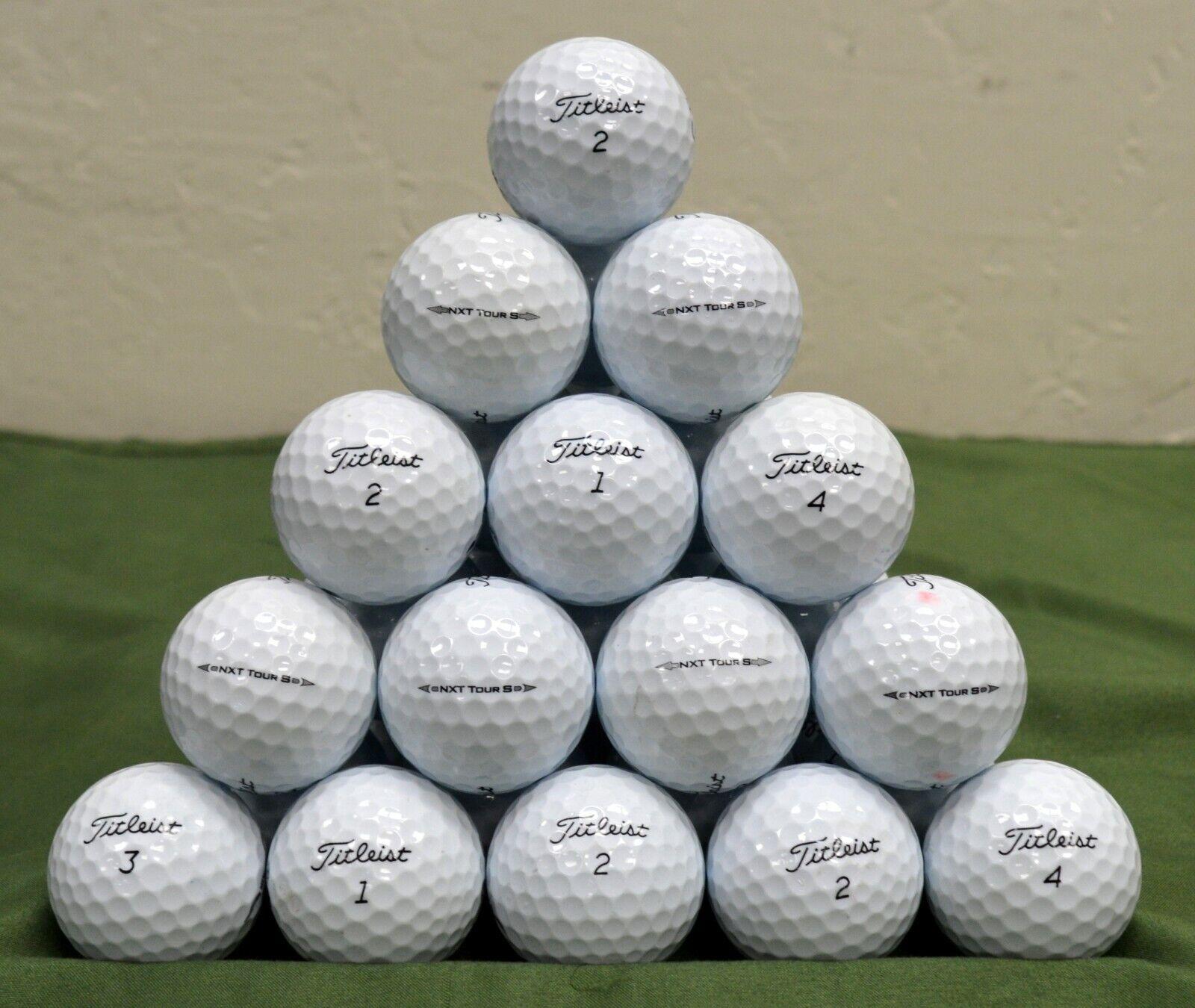 100 Titleist NXT Tour S 3A White Golf Balls
