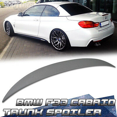 PAINTED BMW 4-Series F33 Convertible p type Rear Trunk Spoiler Wing FRP 428i
