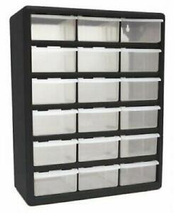 18-Plastic-Cabinet-Drawers-Bins-Garage-Tools-Parts-Organizer-Large-Storage-Boxes