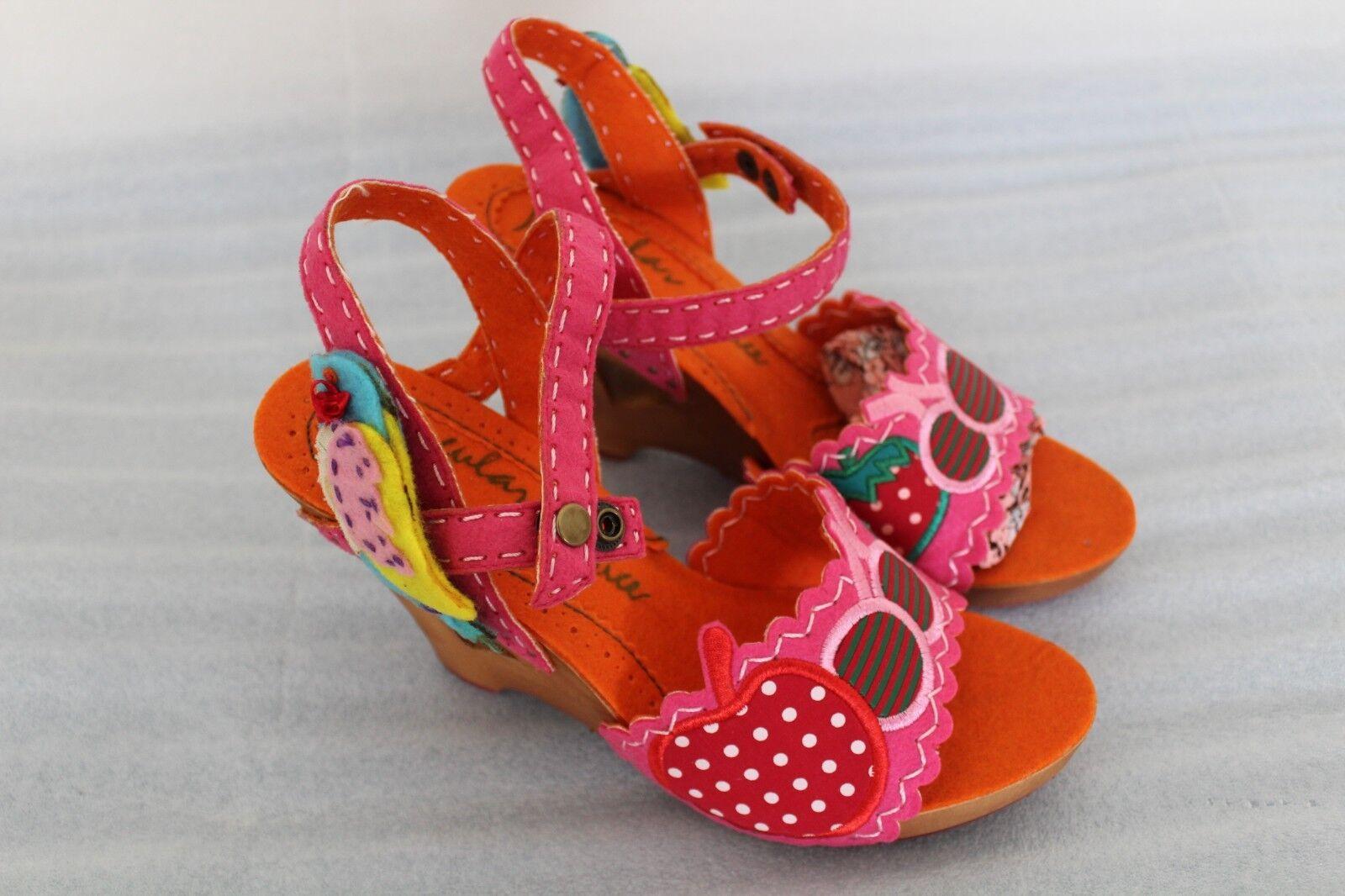 Nuevo Diseño Irregular Choice asilo Jazzy Jazzy Jazzy Bebé rosadododo Rojo Pinup Retro Tacón 38.5 7.5  barato y de alta calidad