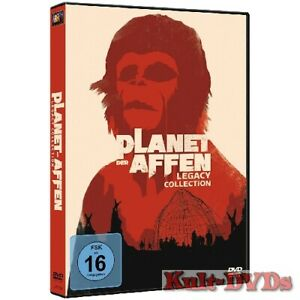 Planet-der-Affen-Legacy-Collection-6-DVD-Box-Charlton-Heston-Neu-OVP