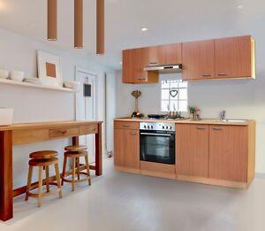 respekta einbau k che k chenzeile einbauk che 210 cm buche buche nachbildung. Black Bedroom Furniture Sets. Home Design Ideas