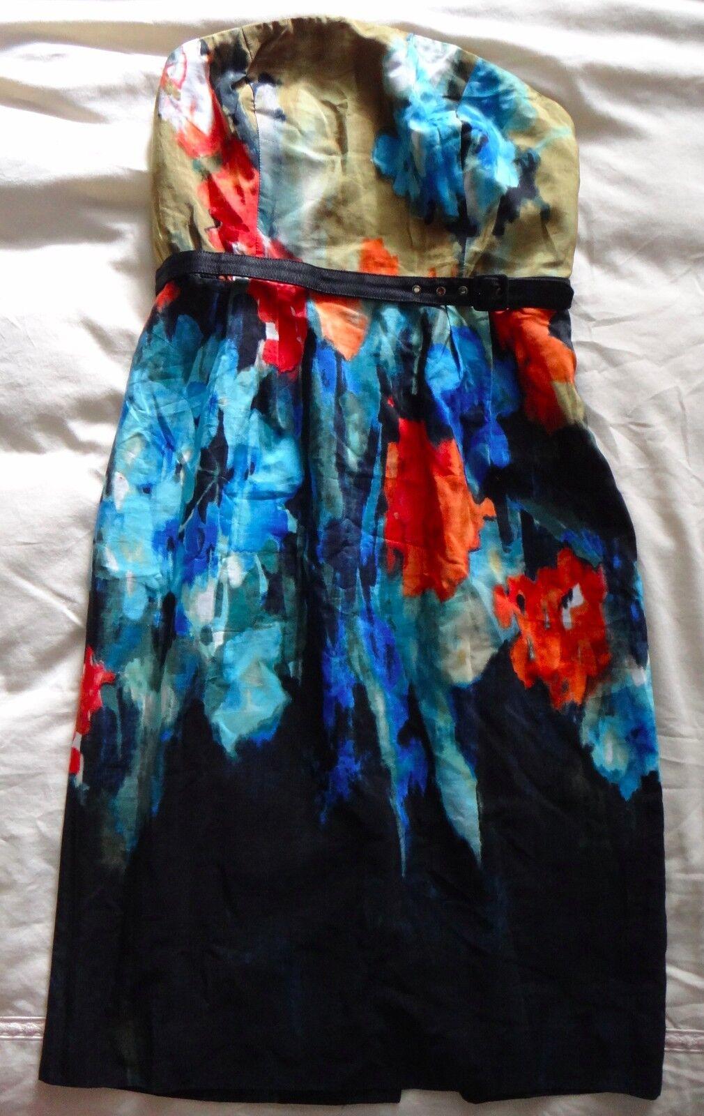 198 Anthropologie silk silk silk Dress by Moulinette Soeurs watercolors  NWT 12d579