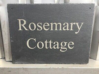 Plaque Natural Slate House Sign Number