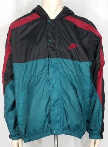 coupe Basketball Veste Noir Rouge Vert Xl vent Nike Vintage Homme Zip 7qtdxUwtpr