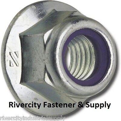 100 Nylon Insert DIN 6926 M6-1.0 or 6mm Metric Hex Flange Stop Lock Nut