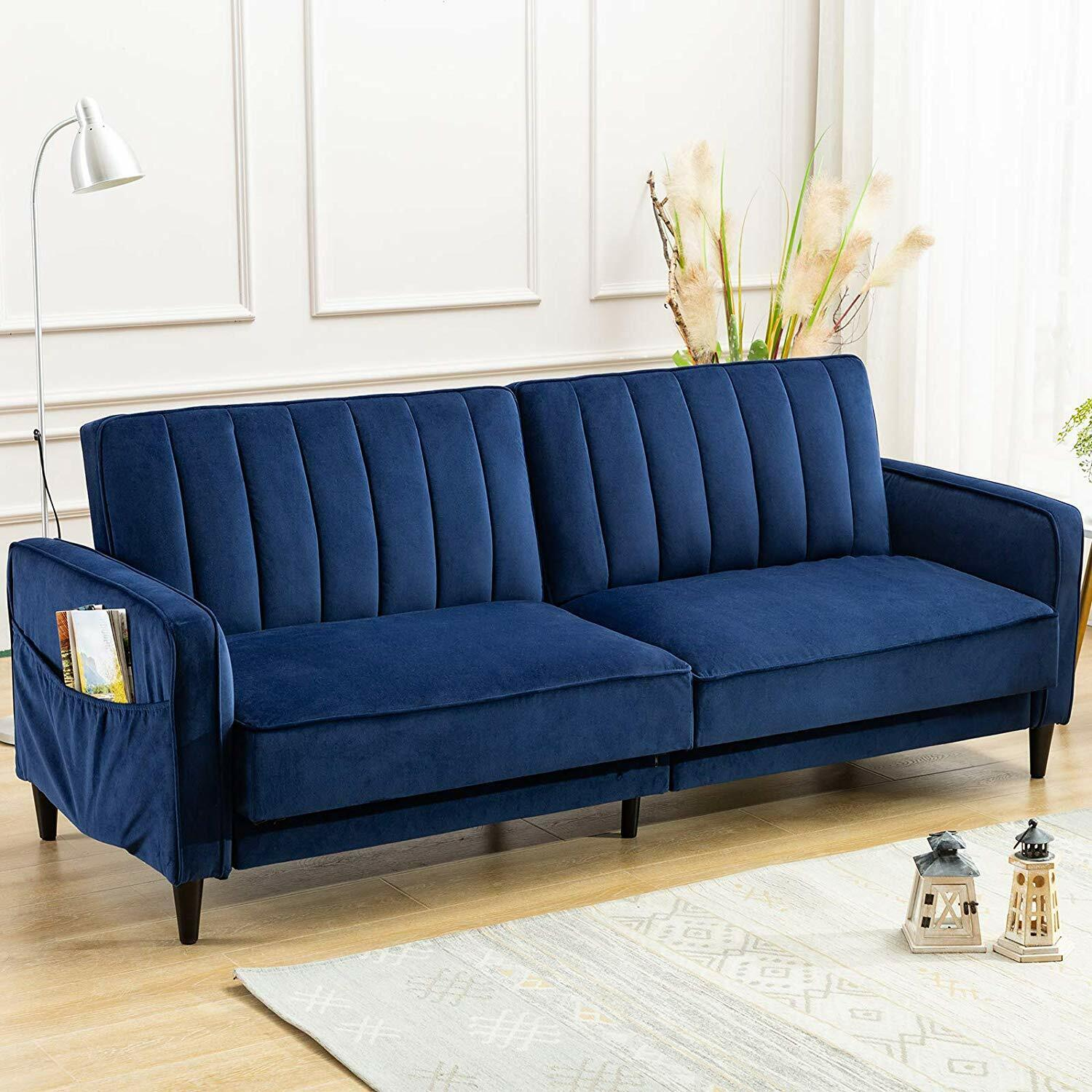 Tufted Futon Sofa Bed Convertible