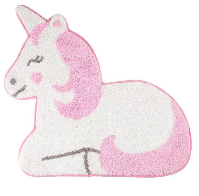 Pink Unicorn Rug Kids Bedroom Carpet Mat Nursery Childrens Home Gift Decoration