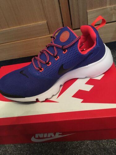 Nike Presto Fly Racer Blue Crimson Mesh Running Gym Lo-top Trainers uk 6