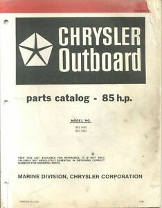 1979 Chrysler 85 HP 857 H9G B9G Parts Catalog