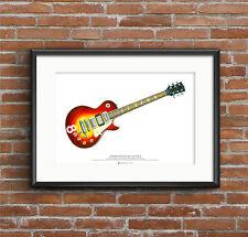 Pete Townshend's Cherry Sunburst Gibson Les Paul Deluxe #8 ART POSTER A2 size