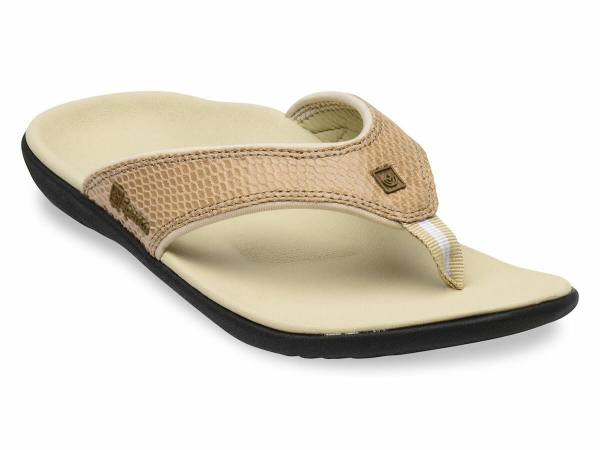 Para Mujer Apoyo Total Spenco Ortopédico Bronceado Sandalias Ojotas de serpiente