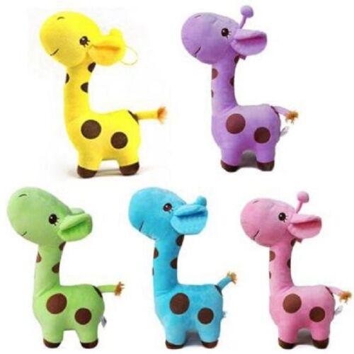 MINI Soft Cute Giraffe Animal Plush Play Decor Toy For Baby Kid Birthday Gifts W