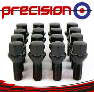 16 Black Wheel Bolts Nuts for Nissan Micra 2002-2010