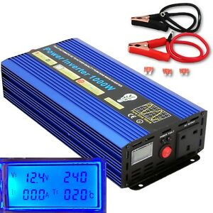 2000W-Peak-1000W-DC12V-AC240V-PURE-SINE-WAVE-POWER-INVERTER-LCD-DISPLAY
