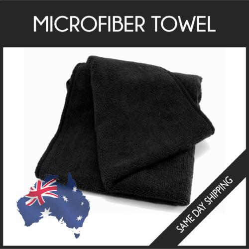 Microfiber Towel GYM SPORT FOOTY TRAVEL CAMPING SWIMMING DRYING MICROFIBRE BLACK
