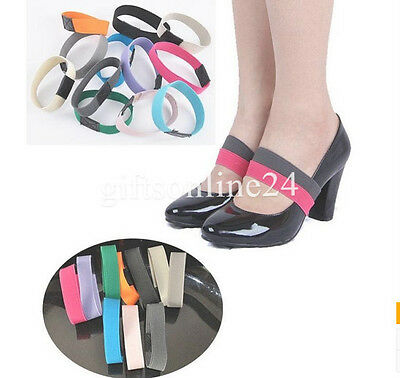 Colorful Elastic Shoe Strap Lace Band for holding loose high heeled shoe,decor