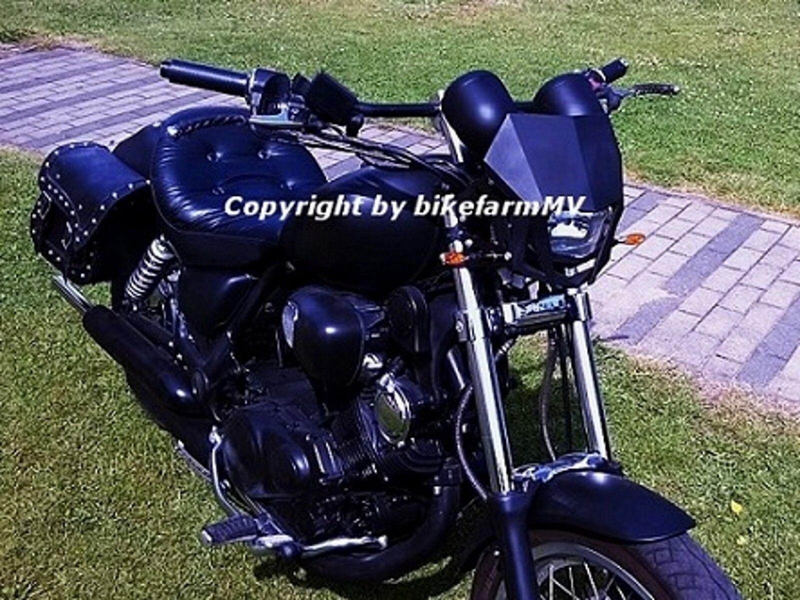 Universal 7//8 Zoll 22mm Motor Lenker Drag Gerade Bar f/ür Chopper Cruisers Bobber Bike Schwarz