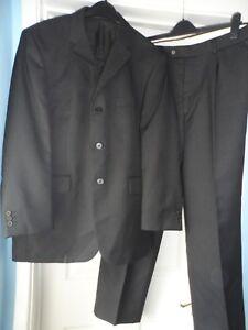 Burton-men-s-smart-black-2-piece-suit-size-44-034-short-waist-40-034