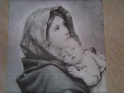 1 Paket  Servietten Madonna mit Baby Nostalgie Vintage Design Napkins Neu