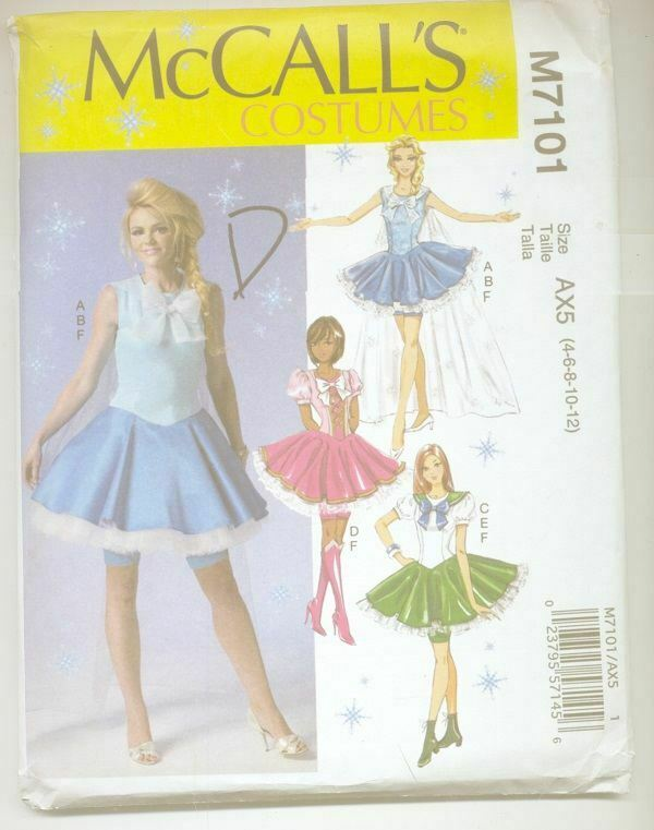 Chest 28.5 to 30 90s Sewing Pattern Costume Pattern McCall/'s 7859 Sewing Pattern GIRL/'S Sailor Moon Cosplay Costume Sailor Moon Pattern