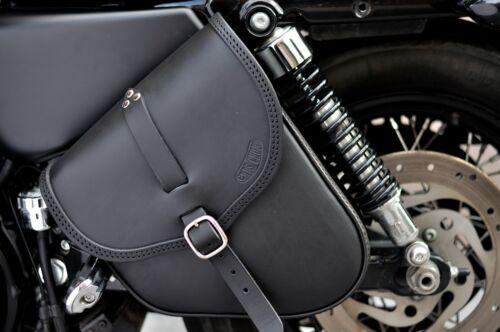 Satteltasche für Harley Davidson Sportster italienische Qualität leder von 4 mm