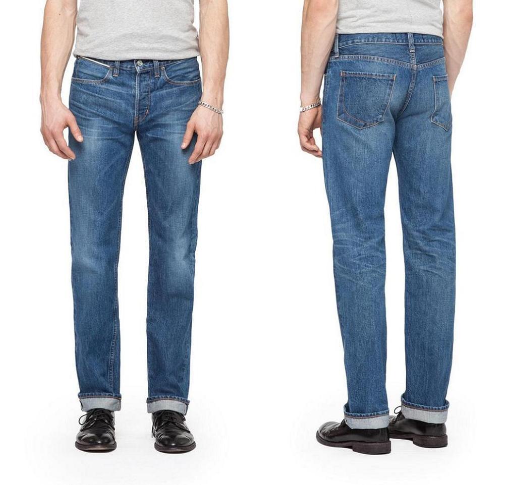 Papier Denim&cloth 1968 Herren Kanten Schmal Gerade Jeans Hergestellt in USA Neu