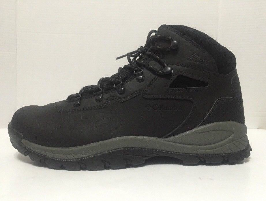 Columbia Yoncalla Wide Mens Black Waterproof Leather Lace Up Hiking Boots
