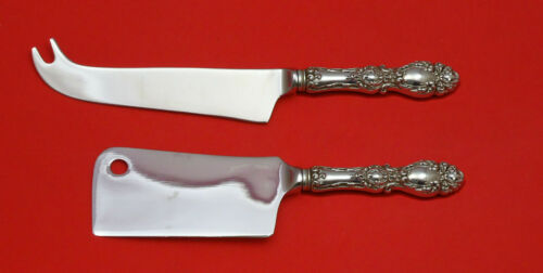 Lucerne by Wallace Sterling Silver Cheese Server Serving Set 2pc HHWS  Custom
