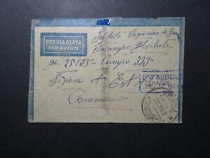 ITALIE-1944-censure-couverture-a-Moyen-Orient-POW-lumiere-Fold-Z11364