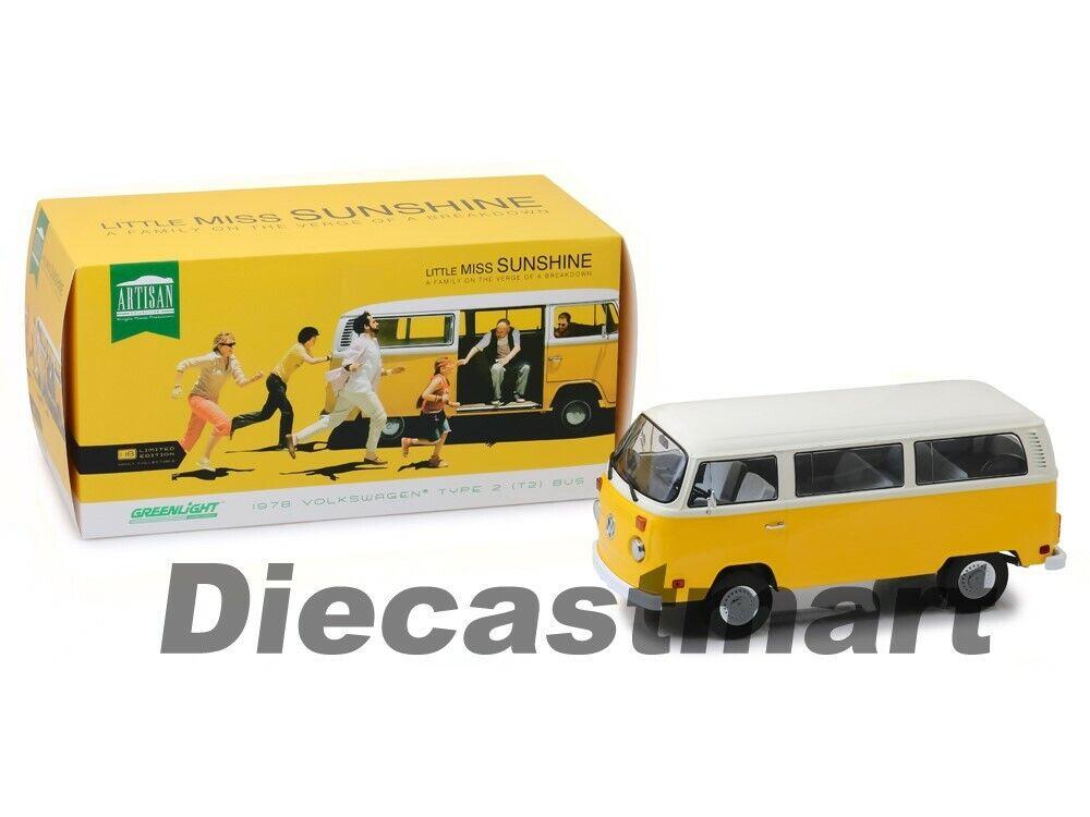 verdelight 1 18 Little Miss Sunshine 1978 Volkswagen Tipo 2 Bus 19051 Diecast