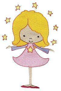 Personalizzata Ricamato JUNIOR STAR Zaino//Zaino-Princess Orso Scuola Borsa