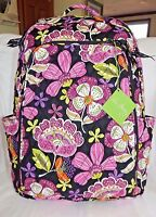Vera Bradley Large Laptop Backpack - Pirouette Pink Padded Section - Brand