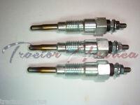 Glow Plugs For Kubota Set (3) 15261-65513 B5001 B5100 B6100 B7100 Rc-15fd Rc-20