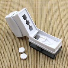 Tablet Pill Medicine Crusher Grinder Grind Splitter Cutter Safe Organize Box