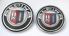 BMW ALPINA PORTABAGAGLIO & COFANO EMBLEMA Set 82mm & 74mm 1 3 SERIE 5