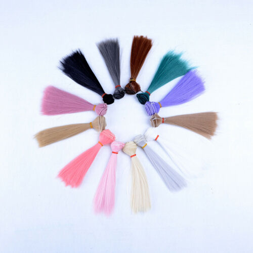 15x 100cm DIY Doll High-temperature Wire Straight Hair Wig 1//3 1//4 1//6 new MECA