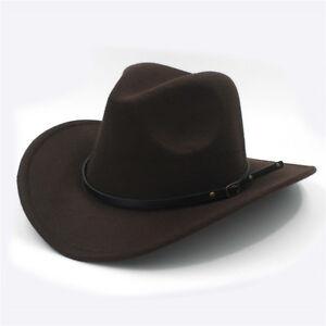 Image is loading Women-Men-Wool-Western-Cowboy-Westworld-Cowgirl-Outback- 27d578a136c