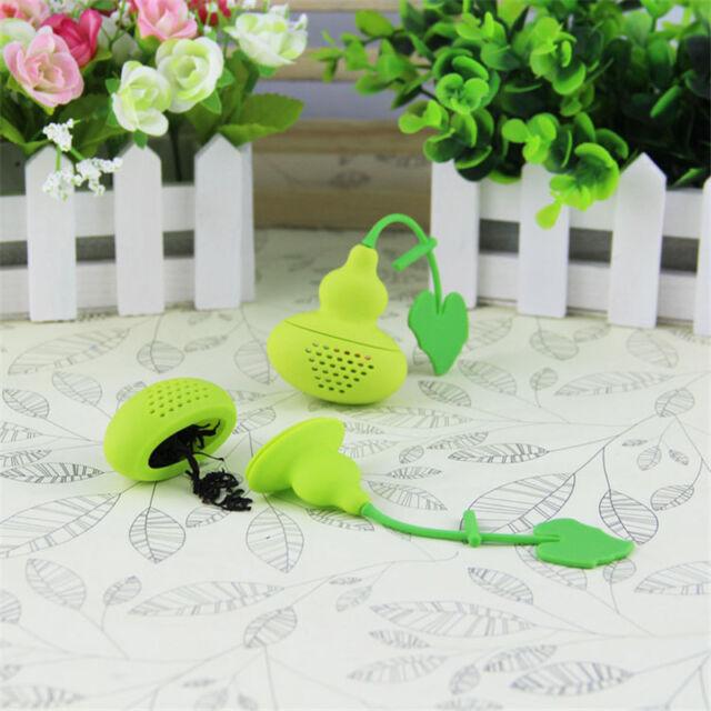 Cool Silicone Calabash Cucurbit Leaf Strainer Herb Spice Infuser Teacup Filter