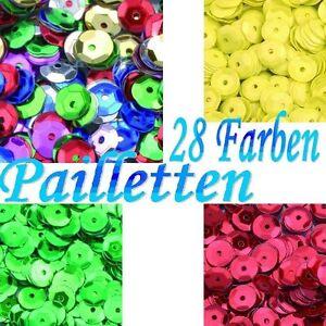 (100g=9,00€) Pailletten Schüsselchen 6 mm rund gewölbt 20g ~1800 Stk z. Annähen