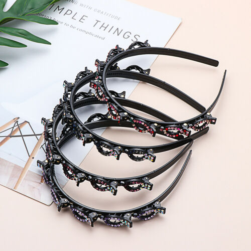 Hollow Twist Plait Headband Double Bangs Hairstyle Hairpin Head Clip Hairstyle