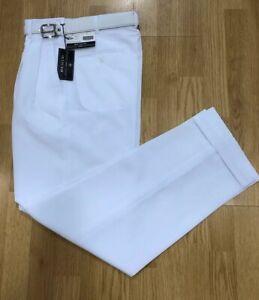 MEN/'S TAUPE PLEATED DRESS PANTS SLACKS TROUSERS BALCK BELT CUFFED BOTTOMS NEW
