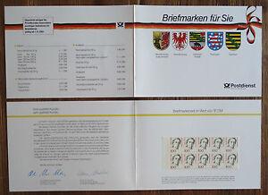 2-x-GH1-Bund-Geschenkheftchen-postfrisch-MH-mit-je-10-x-der-Nr-1390-Frauen-BRD