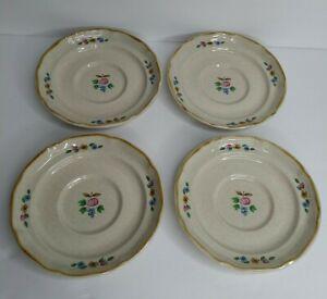 "International Heartland Set of (4) 6 1/4"" Saucer Plates Stoneware Vintage"