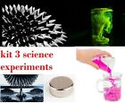 science kit experiment set ferrofluid + neodym magnet + magic sand + fluorescein