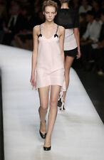 Rochas Silk Dress Pink Cocktail High Low Authentic Formal EUC 44 France 10 12
