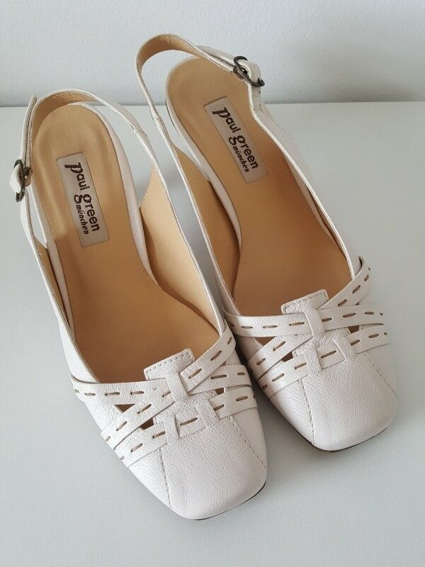Paul Grün   Gr 3,5 Pumps Slingpumps Sandaletten in Creme