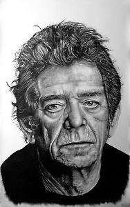 Lou Reed - portrait ritratto GIGANTE grafite e carboncino cm. 75 x 120 - Italia - Lou Reed - portrait ritratto GIGANTE grafite e carboncino cm. 75 x 120 - Italia